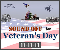 Sound Off for Veteran's Day Logo